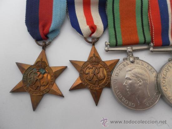 Militaria: Conjunto de cuatro condecoraciones inglesas. II Guerra Mundial. - Foto 2 - 35346984
