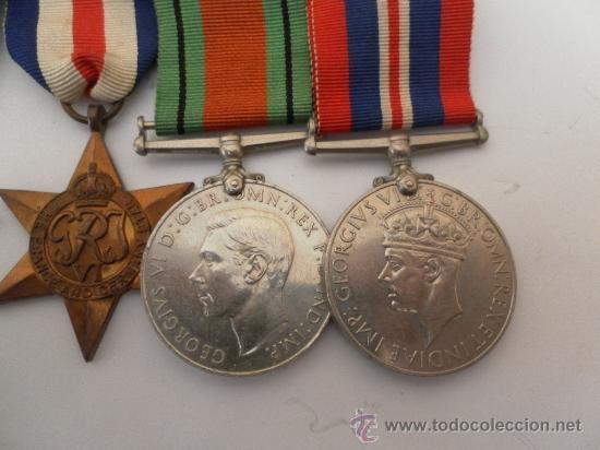 Militaria: Conjunto de cuatro condecoraciones inglesas. II Guerra Mundial. - Foto 3 - 35346984