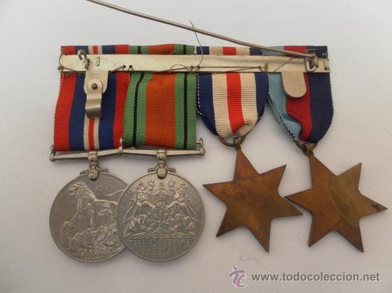 Militaria: Conjunto de cuatro condecoraciones inglesas. II Guerra Mundial. - Foto 4 - 35346984