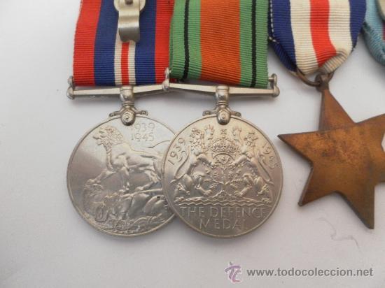 Militaria: Conjunto de cuatro condecoraciones inglesas. II Guerra Mundial. - Foto 5 - 35346984