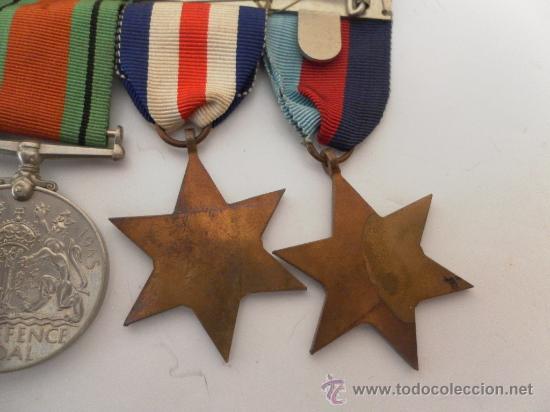 Militaria: Conjunto de cuatro condecoraciones inglesas. II Guerra Mundial. - Foto 6 - 35346984