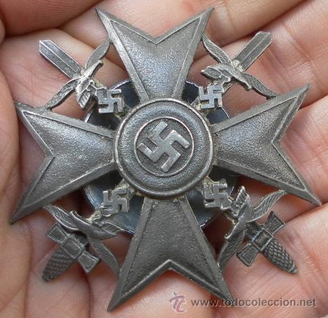 Militaria: Alemania. Cruz de España, con Espadas. Rosca trasera. - Foto 2 - 35604659