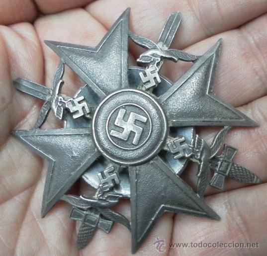 Militaria: Alemania. Cruz de España, con Espadas. Rosca trasera. - Foto 6 - 35604659