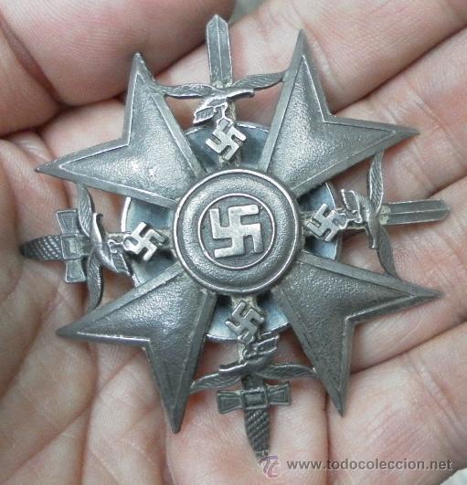Militaria: Alemania. Cruz de España, con Espadas. Rosca trasera. - Foto 7 - 35604659