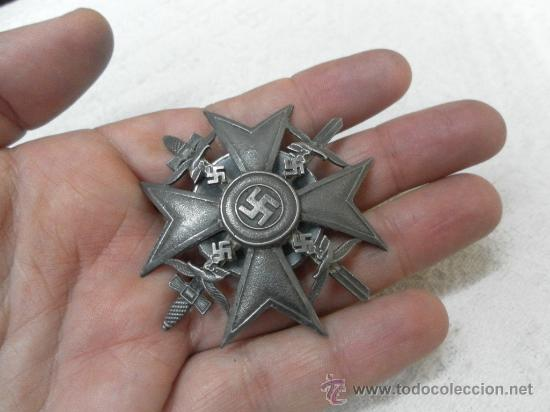 Militaria: Alemania. Cruz de España, con Espadas. Rosca trasera. - Foto 9 - 35604659