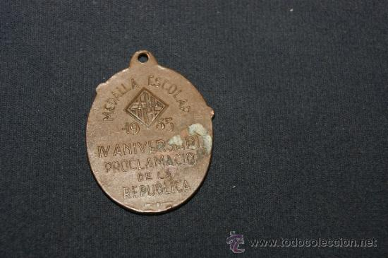 Militaria: Medalla original del IV aniversari del proclamacio de la Republica, 1935 - Foto 2 - 35646845