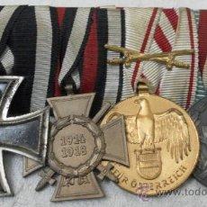 Militaria: ALEMANIA. I GUERRA MUNDIAL. PASADOR CON CUATRO CONDECORACIONES. Lote 35948788
