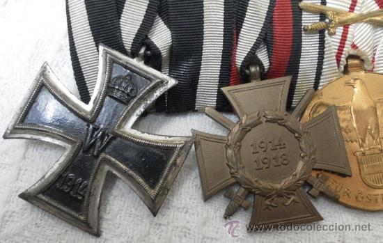 Militaria: Alemania. I Guerra Mundial. Pasador con cuatro condecoraciones - Foto 3 - 35948788