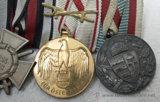Militaria: Alemania. I Guerra Mundial. Pasador con cuatro condecoraciones - Foto 4 - 35948788