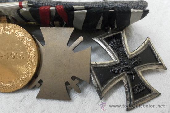Militaria: Alemania. I Guerra Mundial. Pasador con cuatro condecoraciones - Foto 5 - 35948788