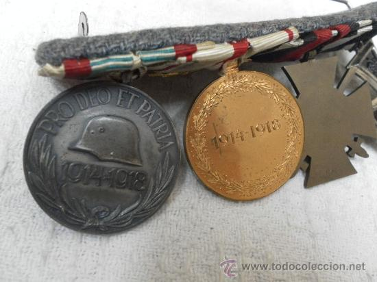 Militaria: Alemania. I Guerra Mundial. Pasador con cuatro condecoraciones - Foto 6 - 35948788