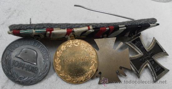 Militaria: Alemania. I Guerra Mundial. Pasador con cuatro condecoraciones - Foto 7 - 35948788
