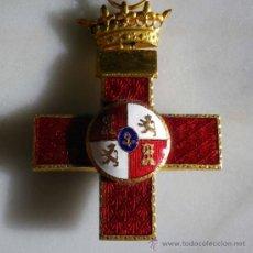 Militaria: MEDALLA ESPAÑOLA MILITAR, CRUZ MERITO MILITAR, DISTINTIVO ROJO. Lote 45619374