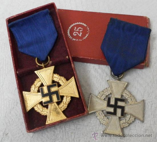 ALEMANIA. MEDALLAS POR AÑOS DE SERVICIO EN EL PARTIDO. II GUERRA MUNDIAL. (Militar - Medallas Internacionales Originales)