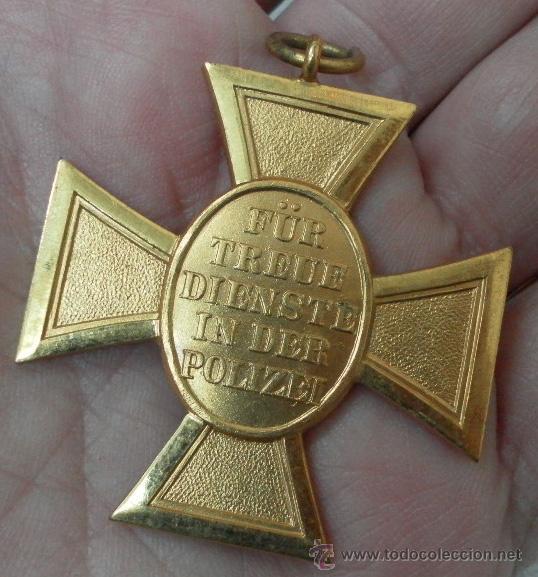 Militaria: Alemania. Cruz. Constancia en la Policía. II Guerra Mundial - Foto 3 - 36375747