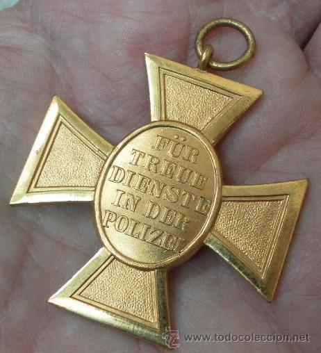 Militaria: Alemania. Cruz. Constancia en la Policía. II Guerra Mundial - Foto 4 - 36375747