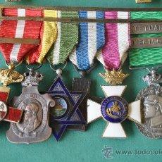 Militaria: PASADOR CON SEIS MEDALLAS DE DOS EPOCAS DIFERENTES.. Lote 36422853