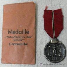 Militaria: ALEMANIA. MEDALLA DE LA CAMPAÑA DEL ESTE. CON SU SOBRE. II GUERRA MUNDIAL. Lote 36480519