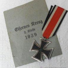 Militaria: ALEMANIA. MEDALLA CRUZ DE HIERRO DE 2ª CLASE. CON SU SOBRE. II GUERRA MUNDIAL. Lote 36480547