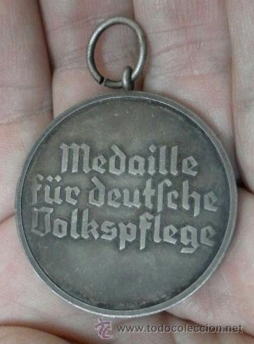 Militaria: Alemania. Medalla del Bienestar Social. Con diploma de concesión. II Guerra Mundial. - Foto 9 - 36480909