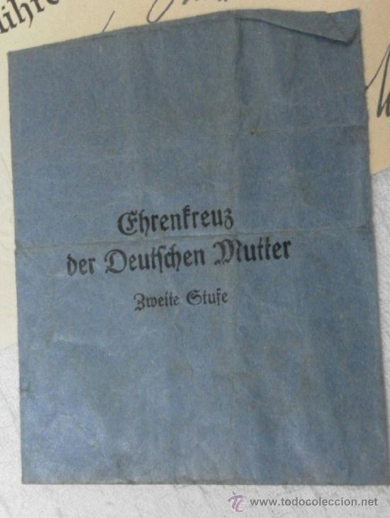 Militaria: Alemania. Cruz de la Madre. Con diploma de concesión y sobre. II Guerra Mundial - Foto 16 - 36481089