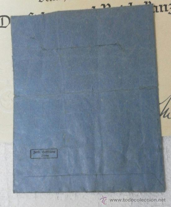 Militaria: Alemania. Cruz de la Madre. Con diploma de concesión y sobre. II Guerra Mundial - Foto 17 - 36481089