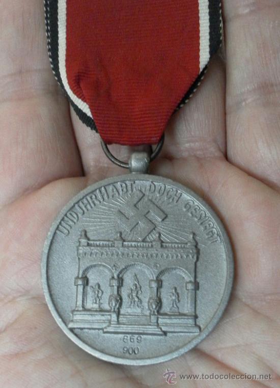 Militaria: Alemania. Medalla de la Orden de la Sangre. II Guerra Mundial. Buena reproducción antigua - Foto 4 - 36494801