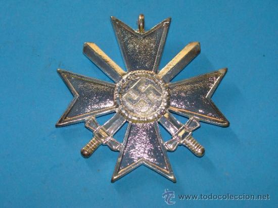 Militaria: MEDALLA ALEMANIA III REICH. CRUZ DE MALTA VERSIÓN PLATA. ESVÁSTICA - 1939. CRUZ DE HONOR NS. - Foto 2 - 120209374