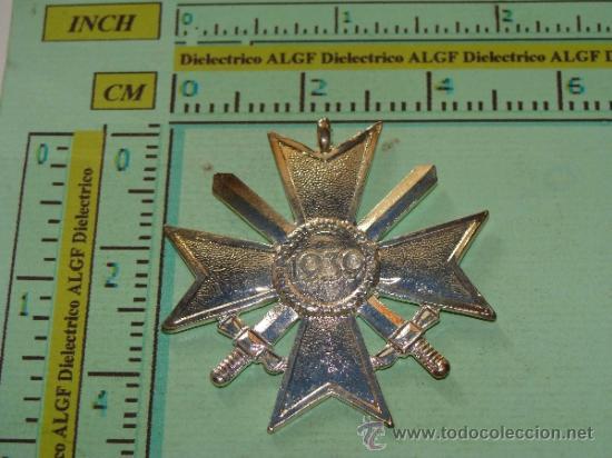 Militaria: MEDALLA ALEMANIA III REICH. CRUZ DE MALTA VERSIÓN PLATA. ESVÁSTICA - 1939. CRUZ DE HONOR NS. - Foto 3 - 120209374
