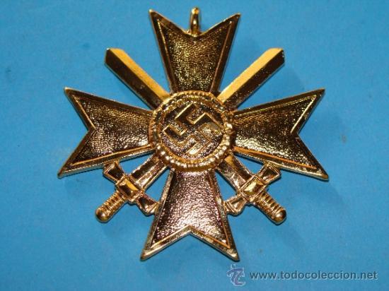 Militaria: MEDALLA ALEMANIA III REICH. CRUZ DE MALTA VERSIÓN ORO. ESVÁSTICA - 1939. CRUZ DE HONOR NS. - Foto 2 - 36945890