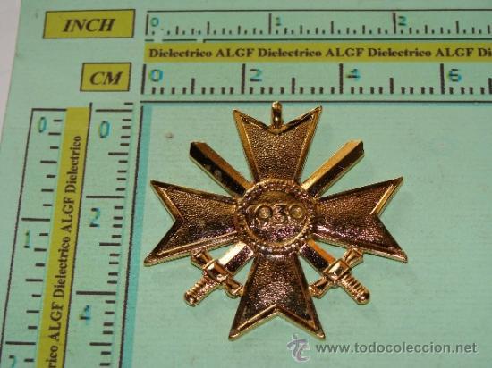 Militaria: MEDALLA ALEMANIA III REICH. CRUZ DE MALTA VERSIÓN ORO. ESVÁSTICA - 1939. CRUZ DE HONOR NS. - Foto 3 - 36945890