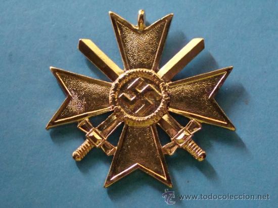 MEDALLA ALEMANIA III REICH. CRUZ DE MALTA VERSIÓN ORO. ESVÁSTICA - 1939. CRUZ DE HONOR NS. (Militar - Reproducciones y Réplicas de Medallas )