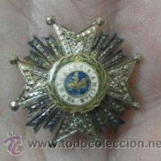 Militaria: MINIATURA DE SOLAPA DE CHAQUETA. PLACA DE SAN HERMENEGILDO. ÉPOCA DE ALFONSO XIII. Lote 37112309