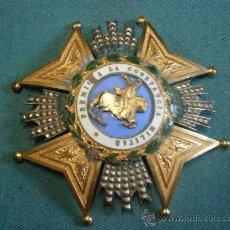 Militaria: PLACA REAL Y MILITAR ORDEN DE SAN HERMENEGILDO 1814-1850, VARIANTE.. Lote 37299962