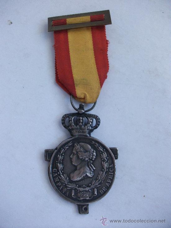 MEDALLA DE LA CAMPAÑA DE AFRICA , 1860 . ISABEL II . SIGLO XIX. FIRMADA POR JOYERO DE PARIS (Militar - Medallas Españolas Originales )