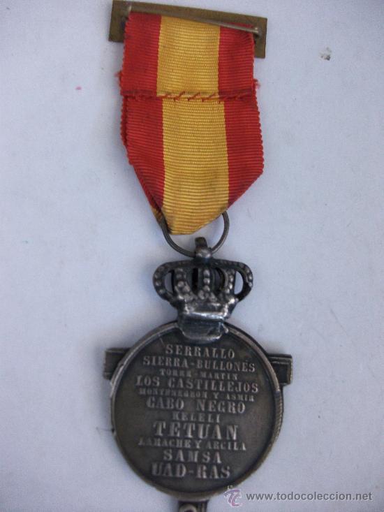 Militaria: MEDALLA DE LA CAMPAÑA DE AFRICA , 1860 . ISABEL II . SIGLO XIX. FIRMADA POR JOYERO DE PARIS - Foto 2 - 37427217