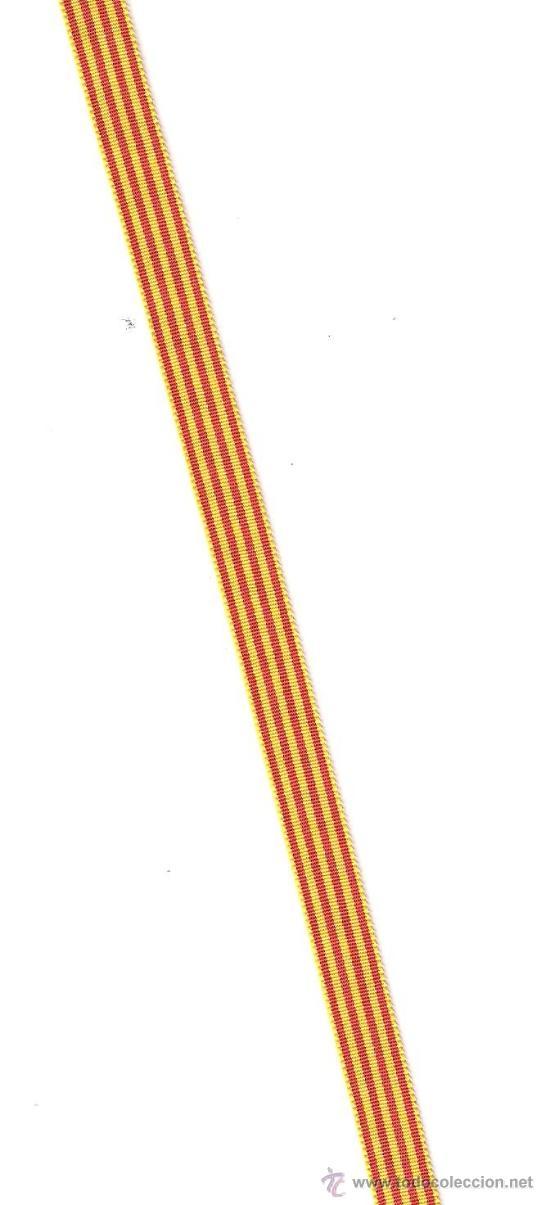 5 MTS. CINTA BANDERA CATALANA DE 1 CMS. DE ANCHO (Militar - Cintas de Medallas y Pasadores)
