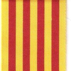 Militaria: 10 MTS. CINTA BANDERA CATALANA DE 5 CMS. DE ANCHO. Lote 183634058