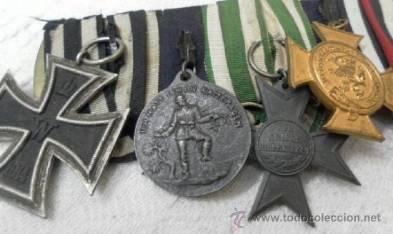 Militaria: Alemania. Pasador de 5 condecoraciones. - Foto 3 - 37726509