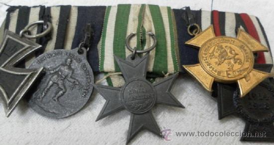 Militaria: Alemania. Pasador de 5 condecoraciones. - Foto 4 - 37726509
