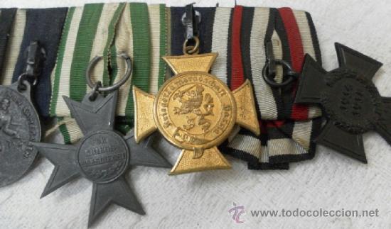Militaria: Alemania. Pasador de 5 condecoraciones. - Foto 5 - 37726509