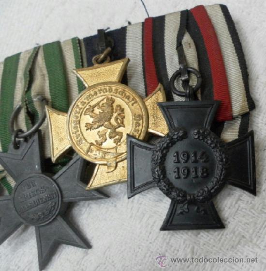 Militaria: Alemania. Pasador de 5 condecoraciones. - Foto 6 - 37726509