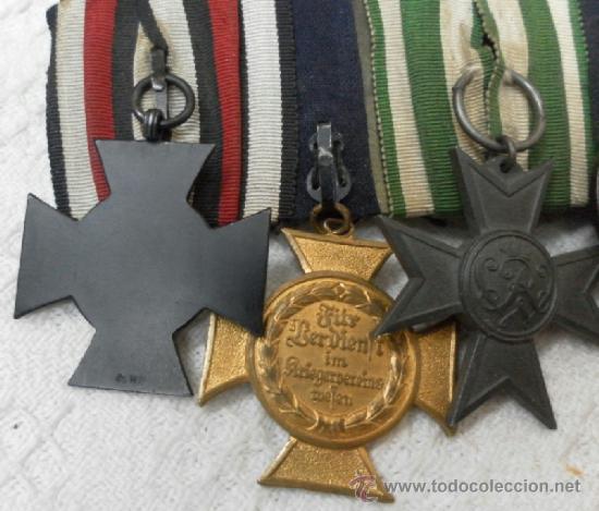 Militaria: Alemania. Pasador de 5 condecoraciones. - Foto 7 - 37726509