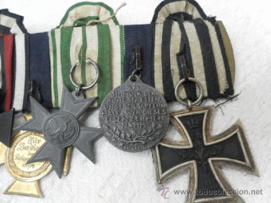 Militaria: Alemania. Pasador de 5 condecoraciones. - Foto 8 - 37726509