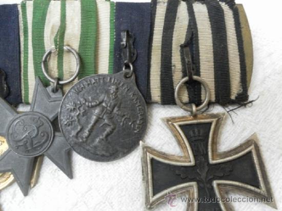 Militaria: Alemania. Pasador de 5 condecoraciones. - Foto 10 - 37726509