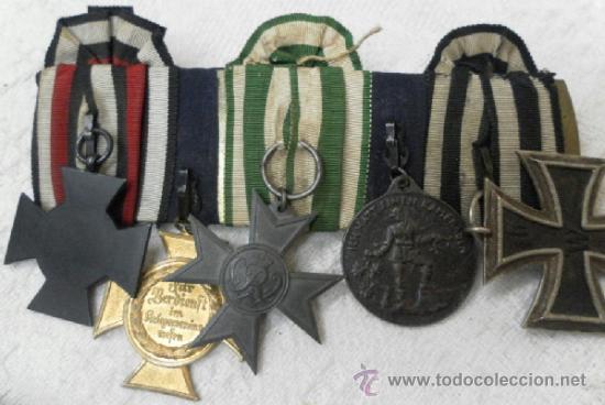Militaria: Alemania. Pasador de 5 condecoraciones. - Foto 12 - 37726509