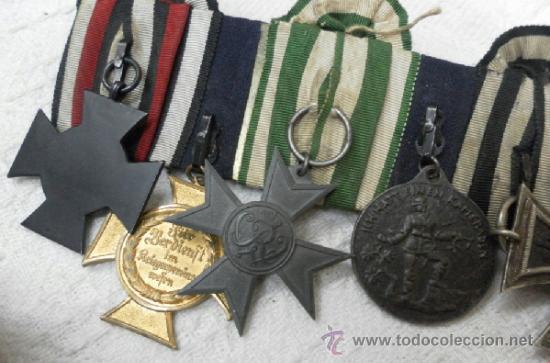 Militaria: Alemania. Pasador de 5 condecoraciones. - Foto 13 - 37726509