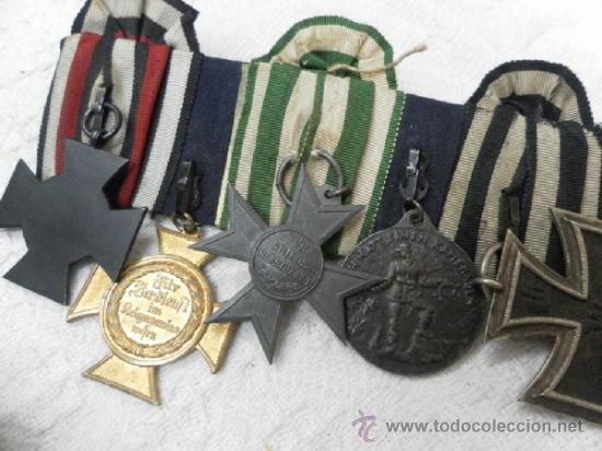 Militaria: Alemania. Pasador de 5 condecoraciones. - Foto 14 - 37726509