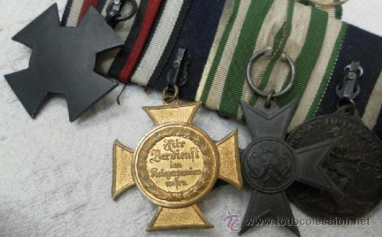 Militaria: Alemania. Pasador de 5 condecoraciones. - Foto 15 - 37726509