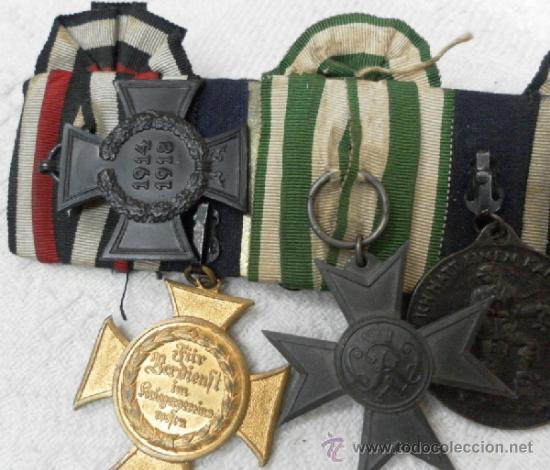 Militaria: Alemania. Pasador de 5 condecoraciones. - Foto 17 - 37726509